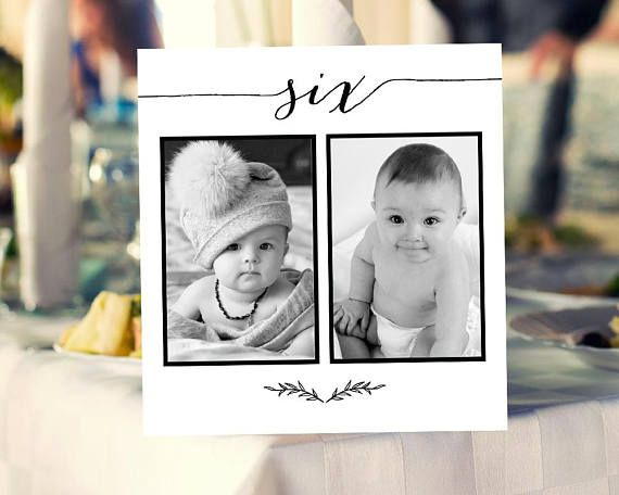 1 30 personalized photo table numbers printable numbers photo table