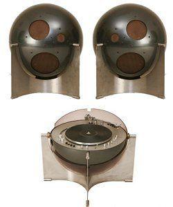 Helium speakers and turntable, by Alain Carré (1968)  1/2 - www.remix-numerisation.fr - Numérisation - Capture - Transfert audio et vidéo - Restauration audio