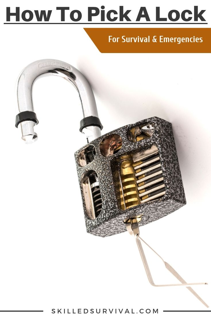 9 Clever Ways On How To Pick A Lock For Survival And Emergencies Lock Survival Survival Skills
