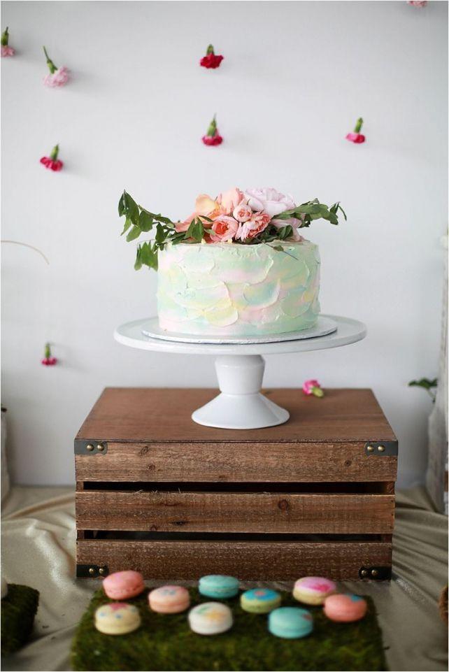 wild flowers party #Wildflowers #Cake