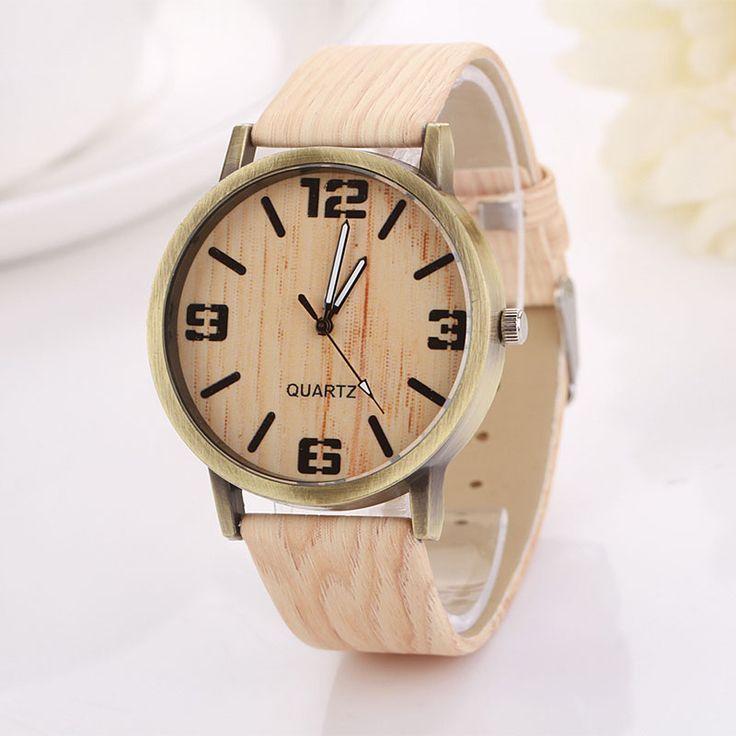 2016 Hot Sale Vintage Wood Grain Watches Fashion Women Quartz Watch Wristwatches Gift Good-looking AP 2 Oh Yeah  #shop #beauty #Woman's fashion #Products #Watch