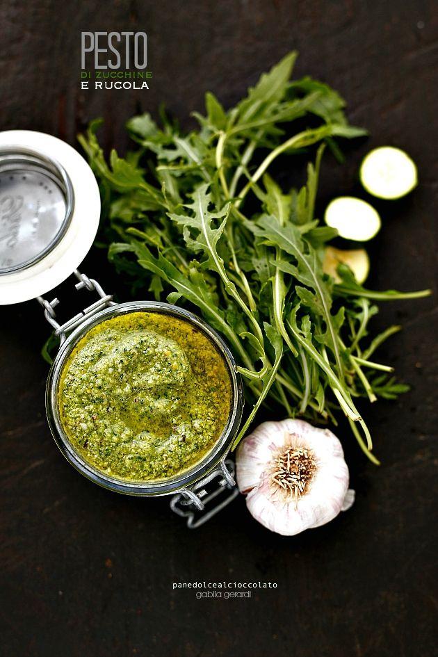 Pesto di zucchine rucola e basilico con sciroppo d' acero - Green Recipe