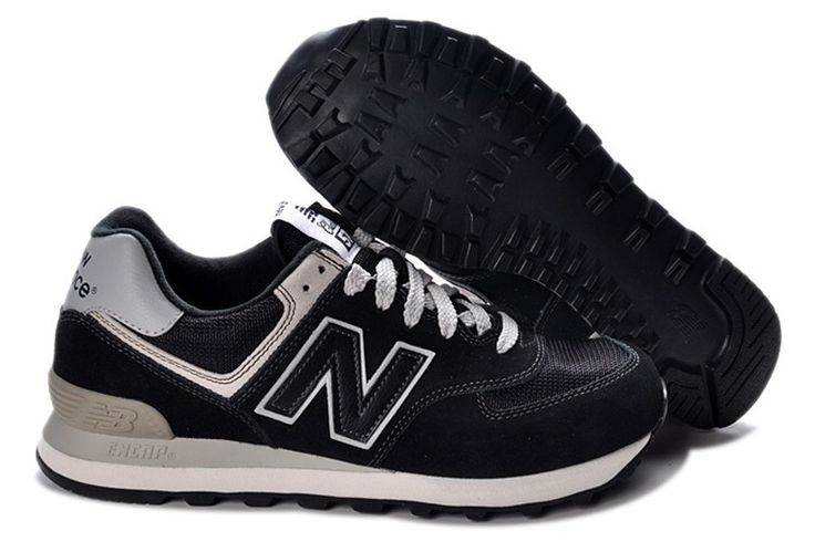 New Balance ML574 BBK 80s Black running trainer Unisex Mens Womans Sneakers