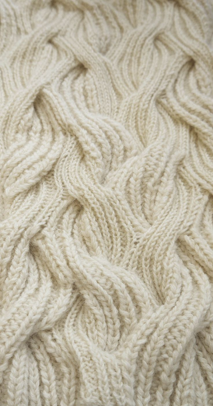 Cable knit sample with mixed textures; knitwear design detail; knitting; textiles for fashion // Emma Brooks