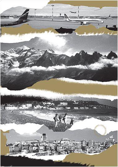 Sérigraphie 70x100 Doré brillant et noir Mat. Éditée à 20 exemplaires.  Super Terrain. Impression Lézard graphique