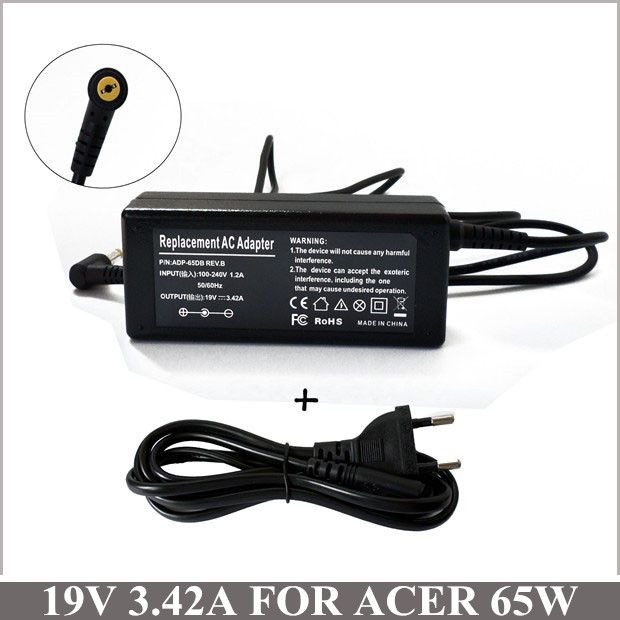 19V 3.42A 65W Laptop AC Adapter Supply Power Cord For Notebook Acer ST-C-070-19000342CT 7740 7740G 5732Z-4437 7740-5691