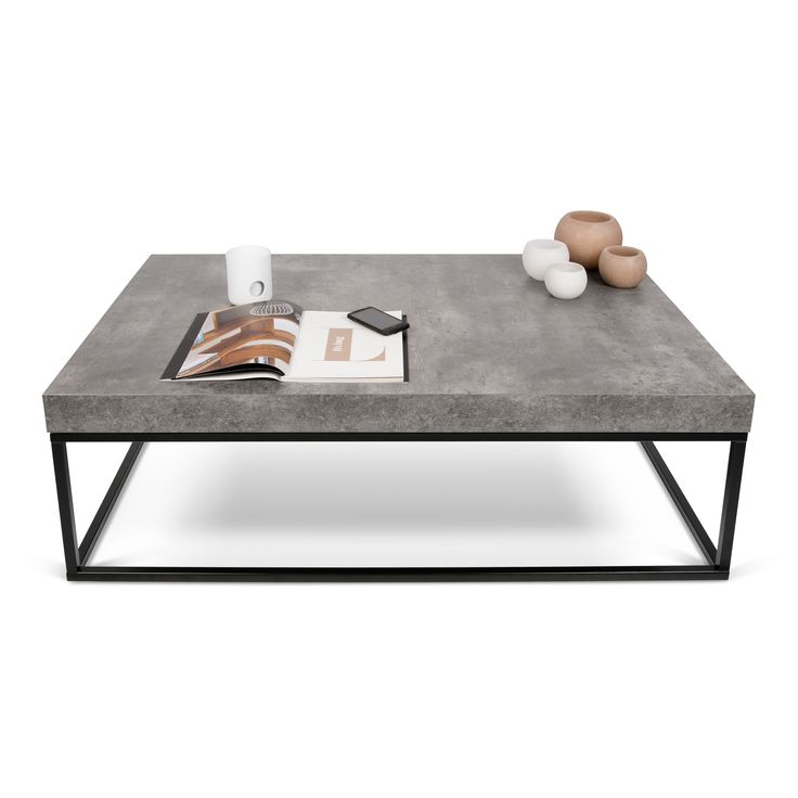 Tema Furniture Petra Coffee Table - The Tema Furniture Petra Coffee Table will lend a modern look to your living room with its rectangular design and dark-colored base in an openwork...