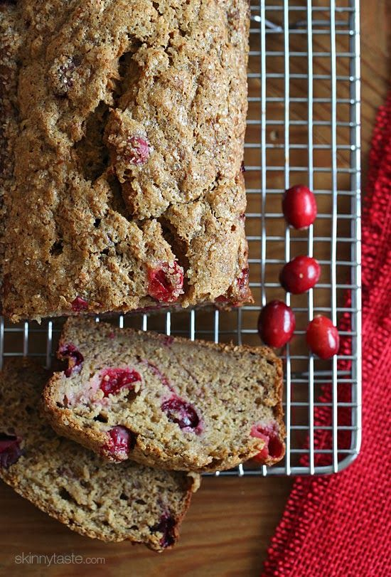 If you have ripe bananas lying around, today is the perfect day to make this wonderfully moist banana bread studded with tart ruby cranberries!