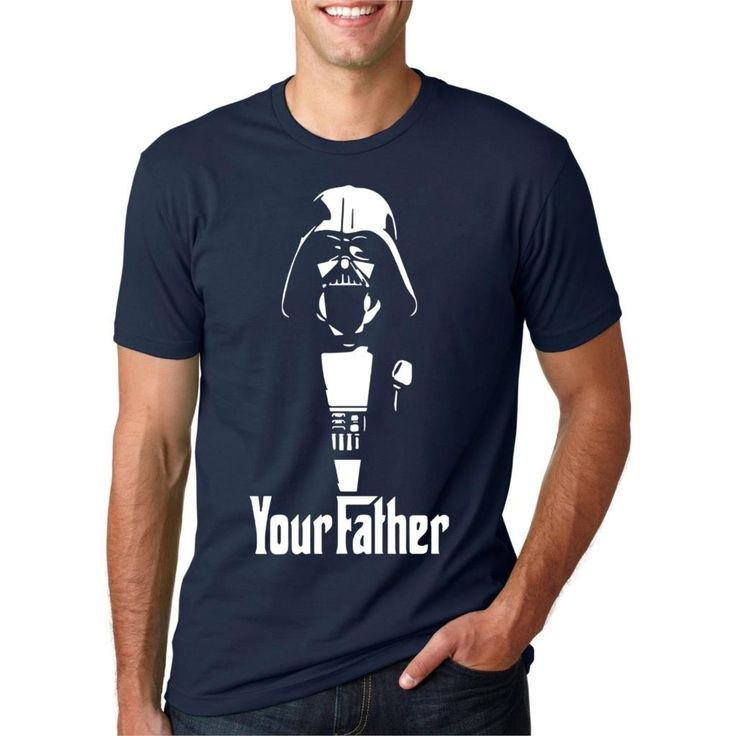 Vader Father, T-Shirt Homme, Blanc (White), XLStar Wars