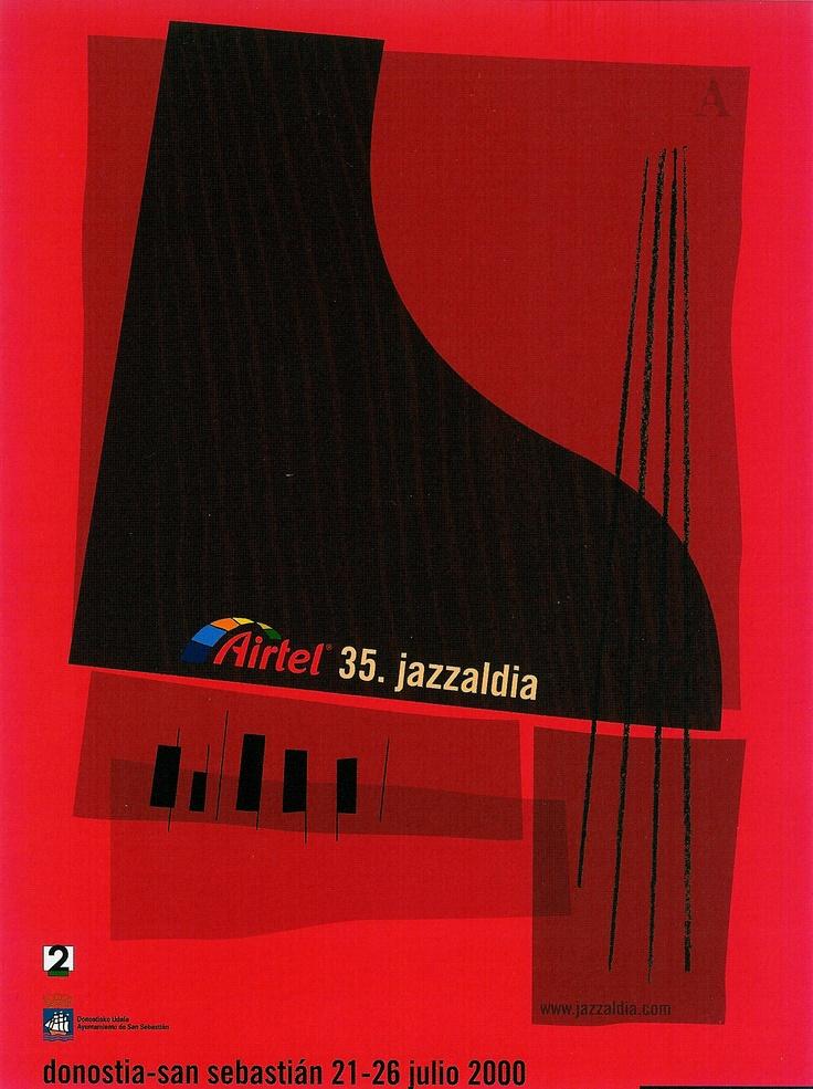 San Sebastian's Jazz Festival poster 2000
