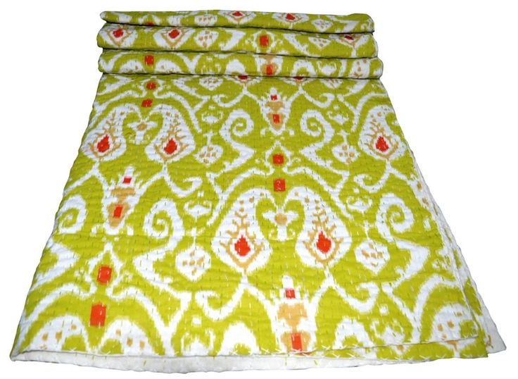 Indian Handmade Vintage Kantha Quilt Blanket Double Queen Size Bedspreads Throw #Unbranded #Asian