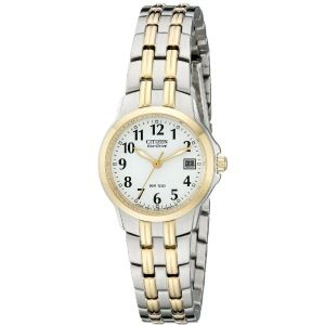 """Citizen Women's Eco-Drive """"Silhouette"""" Two-Tone Stainless Steel Watch"""