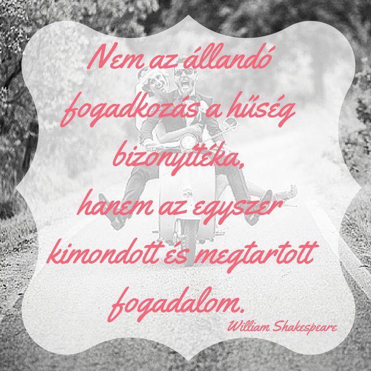 A házasság Shakespeare szerint. Ideális idézet esküvői meghívó szövegeként.