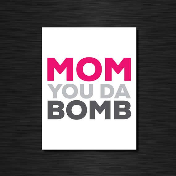 MOM you da bomb  Funny greeting cards / Mother's Day