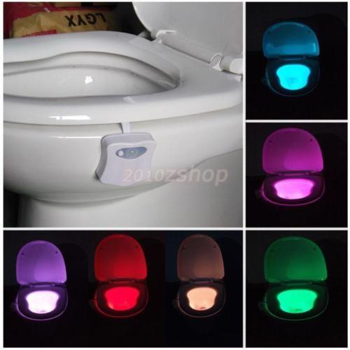 LED-Toilettendeckel-WC-Toilettensitz-Klodeckel-Licht-Nachtlicht-Weiss