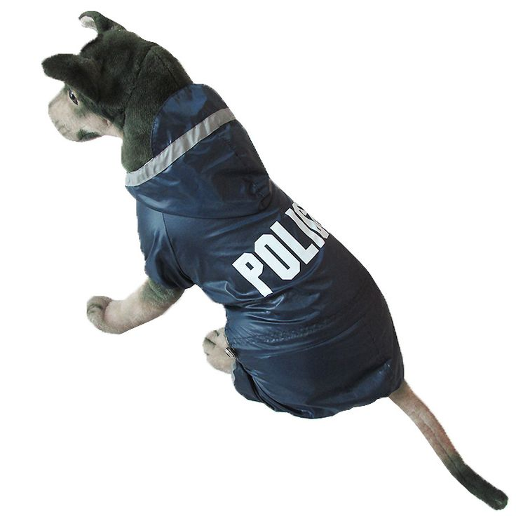 Police Printing Dogs Raincoat For Large Dogs Waterproof Rain Jacket Jumpsuit Pet Clothing // Worldwide FREE Shipping //     #petsupplies