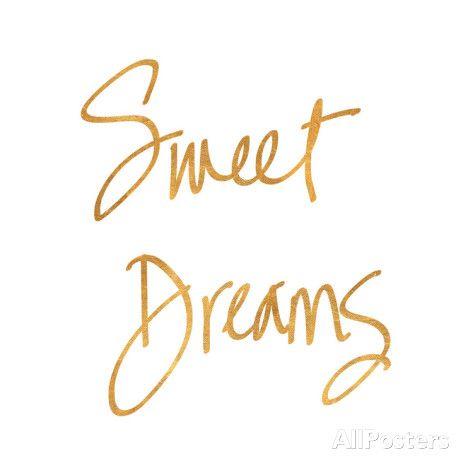 Sweet Dreams (gold foil) Art Print
