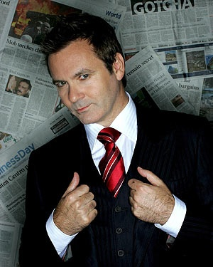 Paul McDermott, he sings like an angle and can tell jokes like a devil.
