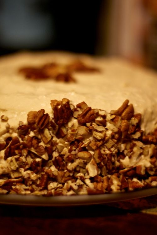Paleo Coconut Flour Hummingbird Cake - uses baking soda and maple syrup