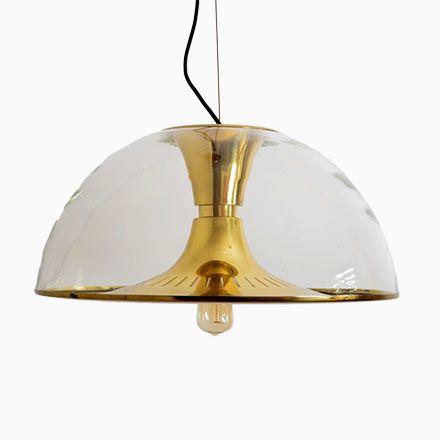 Italienische Messing Hängelampe mit Glaskugel, 1960er Jetzt bestellen unter: https://moebel.ladendirekt.de/lampen/deckenleuchten/deckenlampen/?uid=06034331-82c0-56f6-a106-2646909a4abf&utm_source=pinterest&utm_medium=pin&utm_campaign=boards #deckenleuchten #lampen #deckenlampen