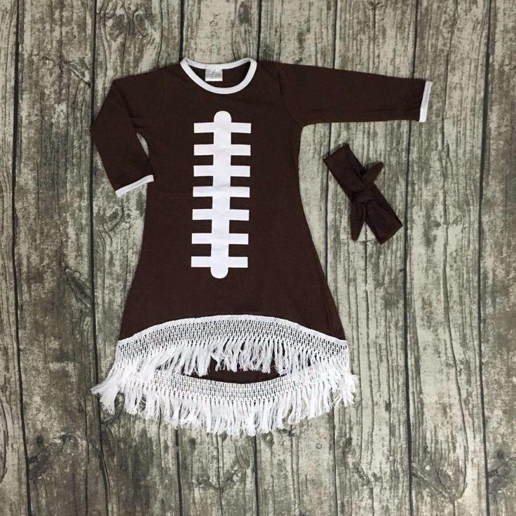 Girls Football Dress + Matching Headband