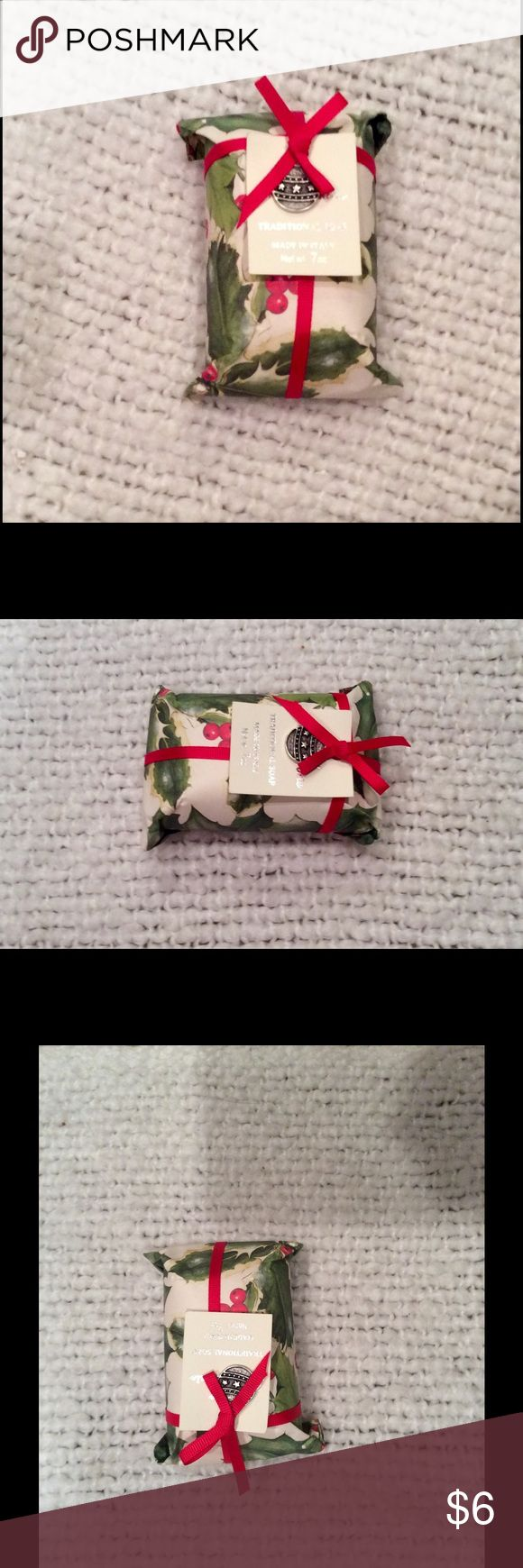 🎄Traditional Holiday Soap - Made in Italy! 🇮🇹 🌲This artisanal soap was made in Italy! 🛀🏼 The scent is Cinnamon-Orange 🍊 and it smells divine!  Treat yourself or a loved one to this beautifully packaged holiday-themed soap!  🤗  *Bundle and save!  May also be counted as FREE (with purchase) gift at the seller's discretion. Other
