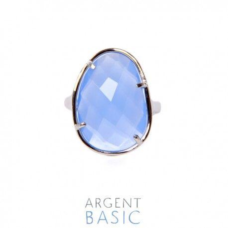 fcc4af481a74 Anillo de plata y piedra azul serenity