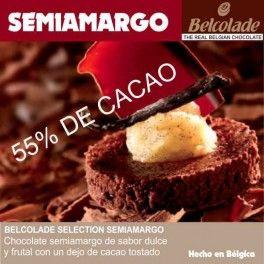 Categoría: Chocolates - Producto: Chocolate Cobertura Semiamargo Para Templar - Envase: Paquete - Presentación: X   1 Kg - Marca: Belcolade