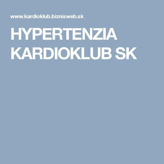HYPERTENZIA KARDIOKLUB SK