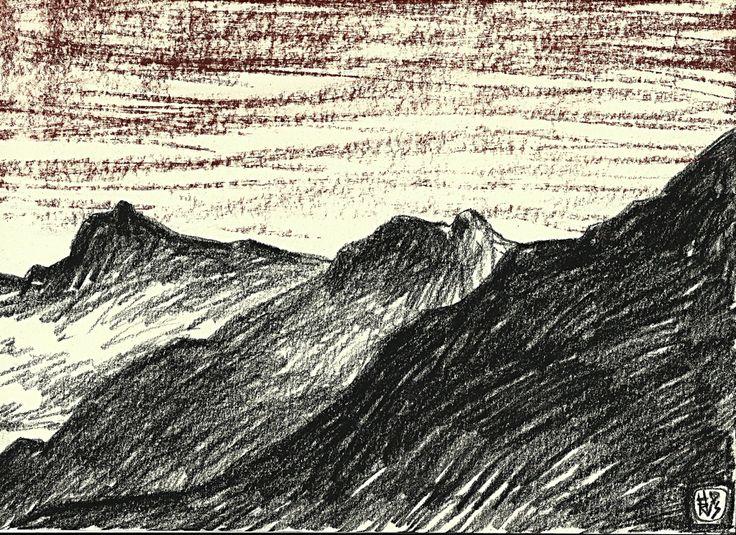 Windiger Abend / 29 x 21 cm, 2016