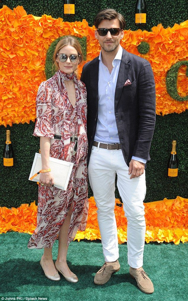 Summer style: Olivia Palermo and model husband Johannes Huebl also attended the polo classic on June 4, 2016