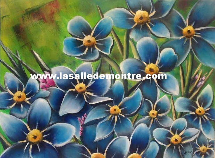Anne Savard, artiste LSDM Myosotis 18 x 24   // 420 $  http://lasalledemontre.com/anne-savard-1/myosotis