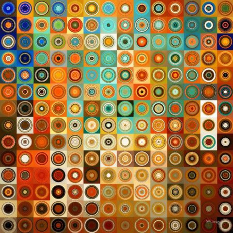 The theme for our August box? Geometry: Circles and Squares. photo cred to Mark Lawrence gallery