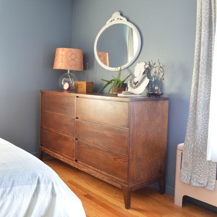 DIY Mid-Century Dresser: Craigslist dresser + Mid-Century base (via Plaster & Disaster)