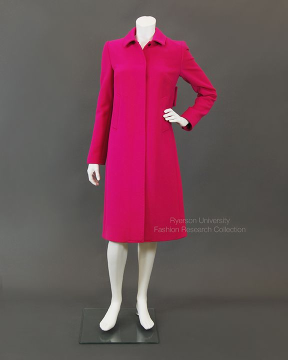 Feeling pink? Fuschia pink wool coat with leopard silk lining Label: Dolce & Gabanna, Made in Italy FRC2009.01.667