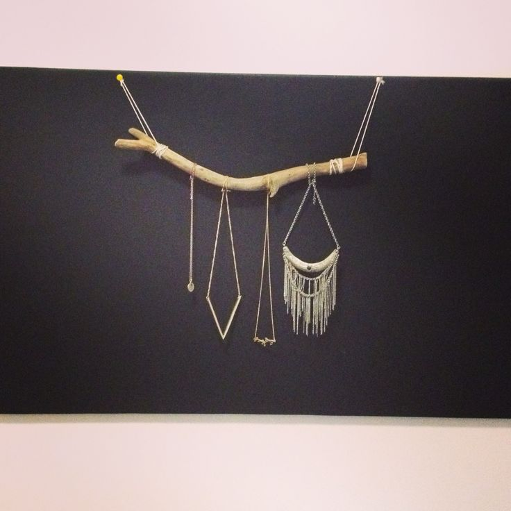 Driftwood as neckless hanger, by @Kim Denise Öhrström