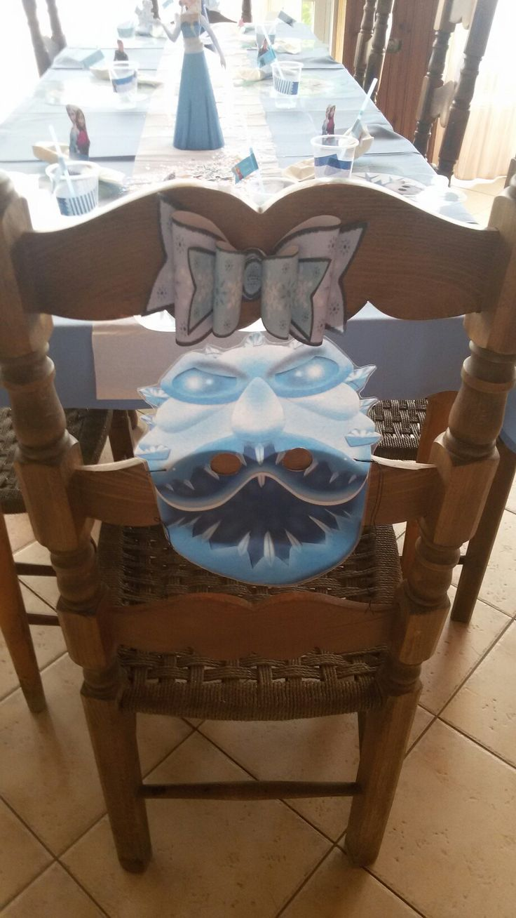 Frozen chair decor
