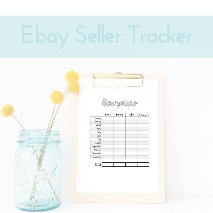 eBay Shop Owner Printable, eBay Template, Seller Printable, eBay Seller Tools, eBay Costs, Online Sales Tracker, Business Binder Insert by MyBudgetBlueprint on Etsy