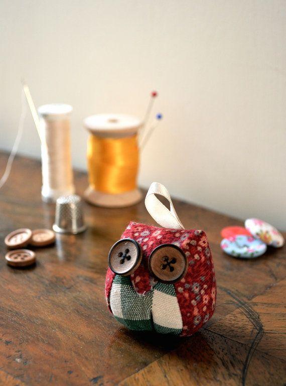 Vintage Owl Keyring / Decoration