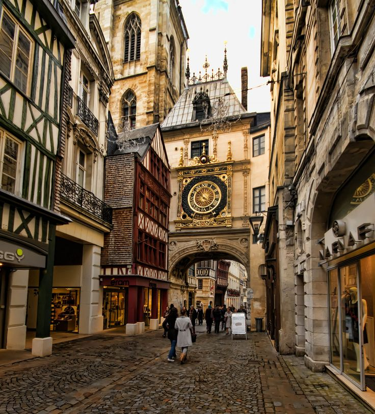 Rouen.I was there twice, 6 months each time. I am in love with this French city. Ancient streets all around
