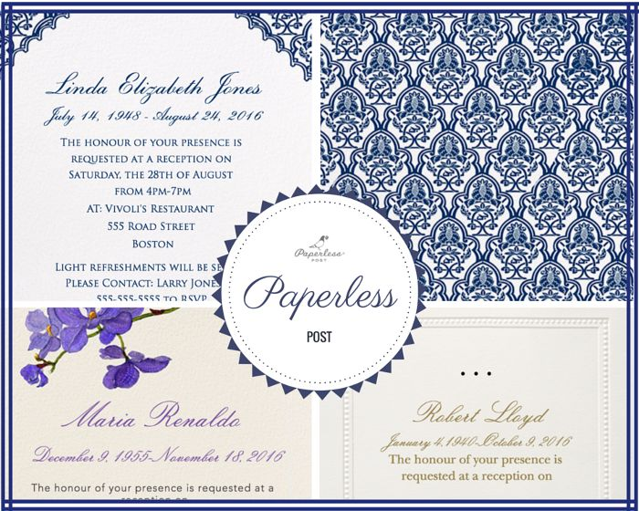 29 best Funeral Reception Invitations images on Pinterest - funeral invitation templates