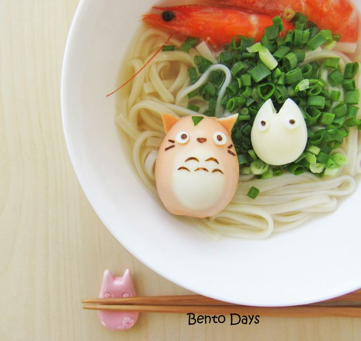 Totoro Hard Boiled Egg Bento and Tutorial