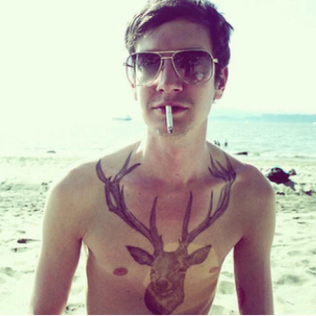 : Chest Tattoo, Natural Tattoo, Stag Tattoo, Deer Tattoo, Deer Head, Ink Tattoo, Tattoo Patterns, A Tattoo, Deerhead