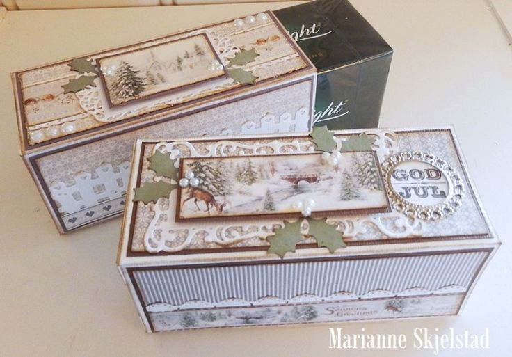 Christmas gifts, the Glistening Season paper collection