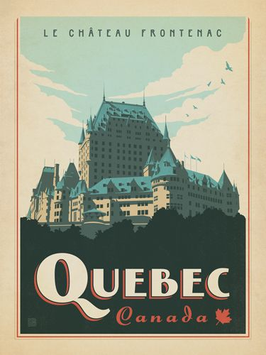 Canada: Quebec - Our latest series of classic travel poster art is called the World Travel Poster Collection. We were inspired by vintage travel prints from the Golden Age of Poster Design (a glorious period spanning the late-1800s to the mid-1900s.) So we set out to create a collection of brand new international prints with a bold and adventurous feel.
