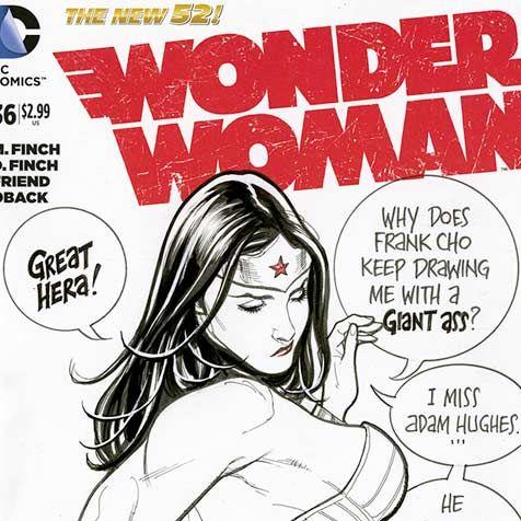 Frank Cho Wonder Woman sketch cover