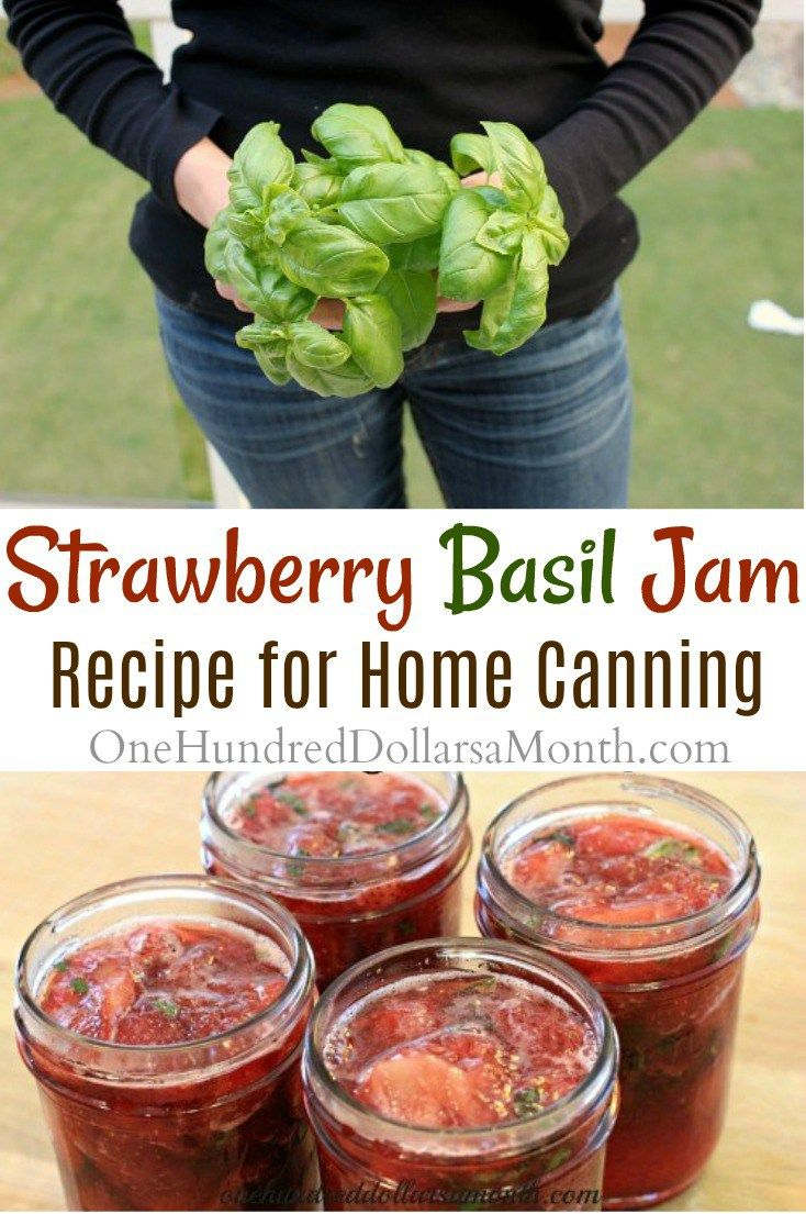 Strawberry Basil Jam Recipe, Strawberry Jam Recipes, Recipes with Basil, Canning Recipes