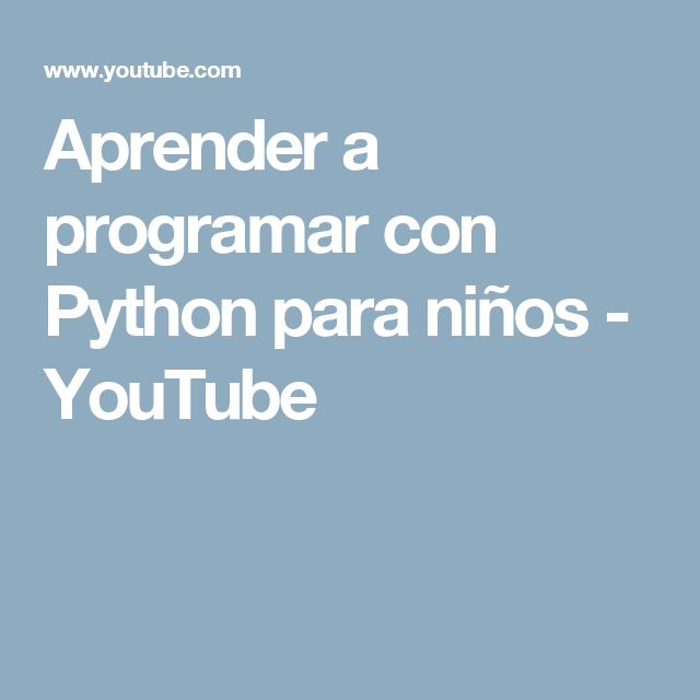 61 best tic images on pinterest computers english grammar and for aprender a programar con python para nios youtube fandeluxe Image collections