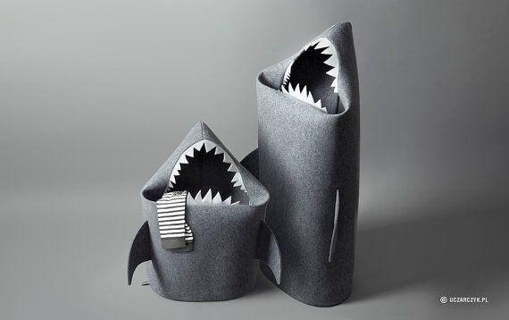 Christmas gifts SALE BABY SHARK felt kids toy storage by Uczarczyk