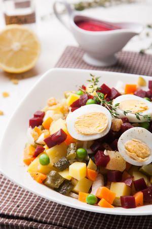 Пестрый зимний салат